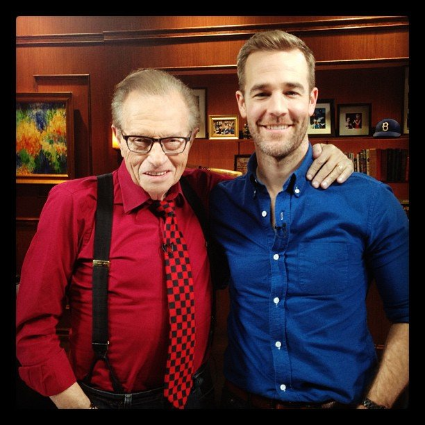 James Van Der Beek met with the man, the legend, Larry King. Likewise, Larry King got to meet the man, the legend, James Van Der Beek. Source: Instagram user vanderjames