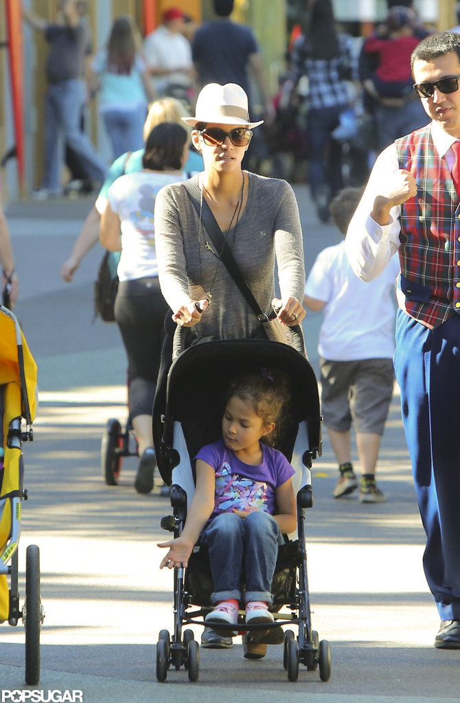 Nahla Aubry got a tour from mom Halle Berry in January 2013.