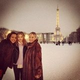 Chloë Moretz visited the Eiffel Tower with her mom and a friend. Source: Instagram user cmoretz