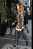 Jennifer Lopez sported a leopard-print ensemble in NYC.