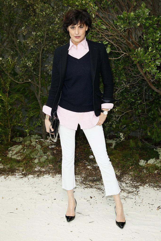 Inès de la Fressange struck a pose while at the Chanel Spring/Summer 2013 Haute Couture show in Paris on Tuesday.