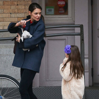 Katie Holmes and Suri Cruise Wearing Coats in NYC | Pictures