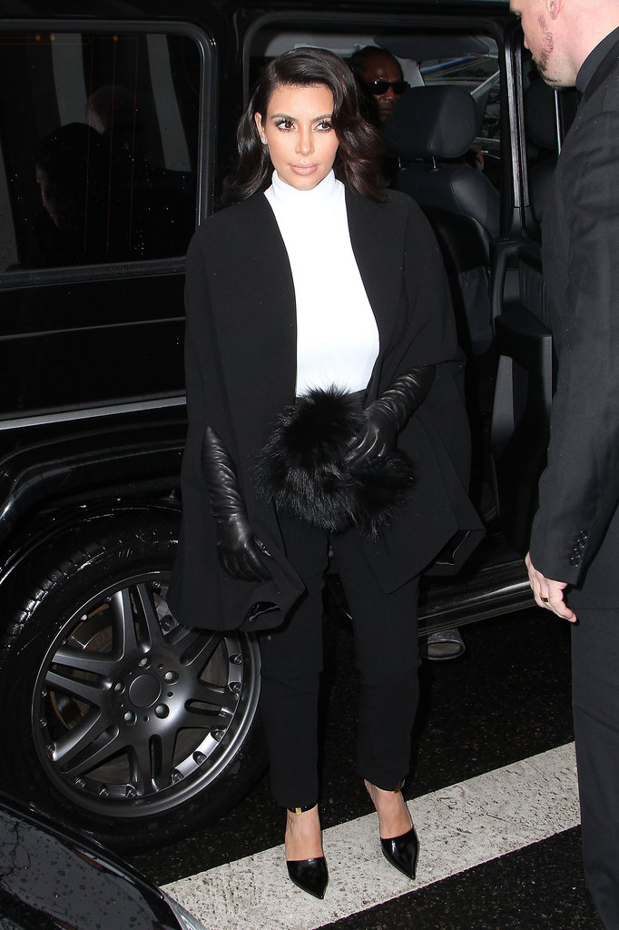 Kim Kardashian outside Stephane Rolland.