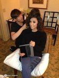 Ken Paves styled Eva Longoria's hair for the inauguration. Source: Eva Longoria on WhoSay