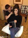 Ken Paves styled Eva Longoria's hair for the inauguration. Source: Eva Longoria on WhoSay