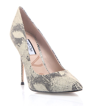 These Lucy Choi London snake-print pumps ($277) are a must-have for any high-heel-loving lady. Try them with a patterned dress for a mixed-print look.