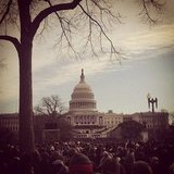 We had a great view of the Capitol before the swearing-in.