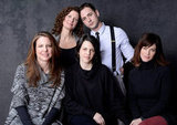 Julie Fain Lawrence, Johnathan Tchaikovsky, Robin Weigert, director Stacie Passon, and Maggie Siff got close for a group shot to promote Concussion.