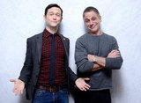 Joseph Gordon-Levitt and Tony Danza showed off some attitude taking pictures for Don Jon's Addiction.