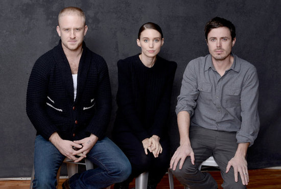 Ain't Them Bodies Saints stars Ben Foster, Rooney Mara, and Casey Affleck sat next to one another inside the Sundance portrait studio.