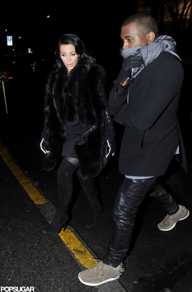 Kim Kardashian and Kanye West grabbed dinner in Paris.