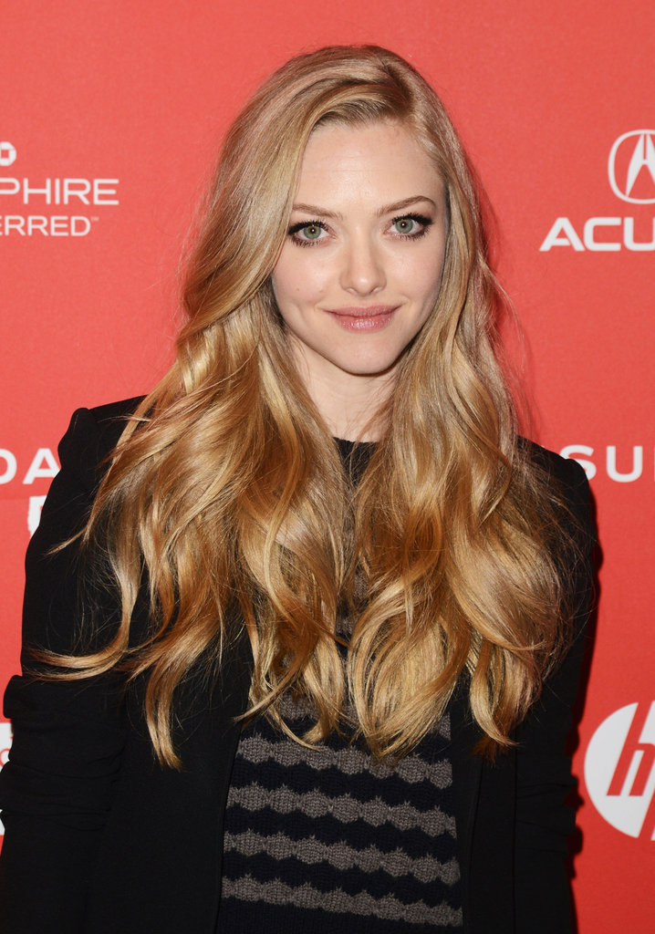 Amanda Seyfried wore a black jacket for the Park City premiere.