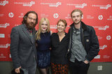Peter Sarsgaard, Dakota Fanning, Naomi Foner, and Boyd Holbrook smiled on the red carpet in Park City.