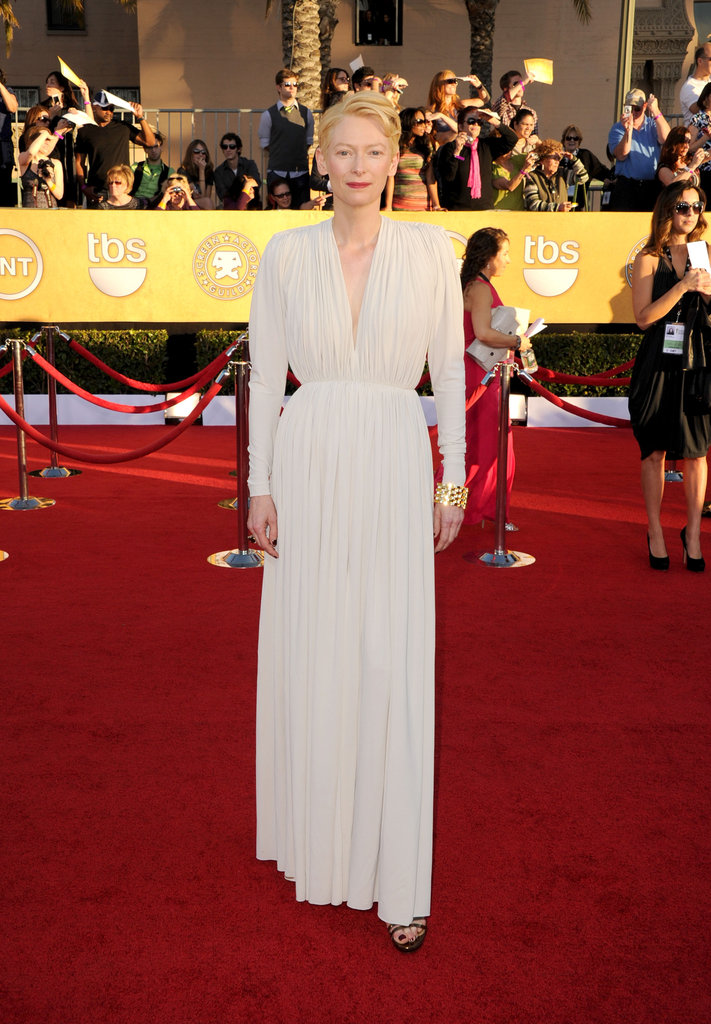 Tilda Swinton wore custom Lanvin in 2012.