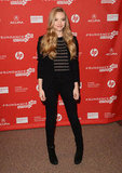 Amanda Seyfried styled up a cool take on event wear in a Michael Kors blazer and skinny bottoms for the Lovelace premiere.