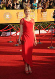 Michelle Williams stunned in a red Valentino gown at the 2012 awards.
