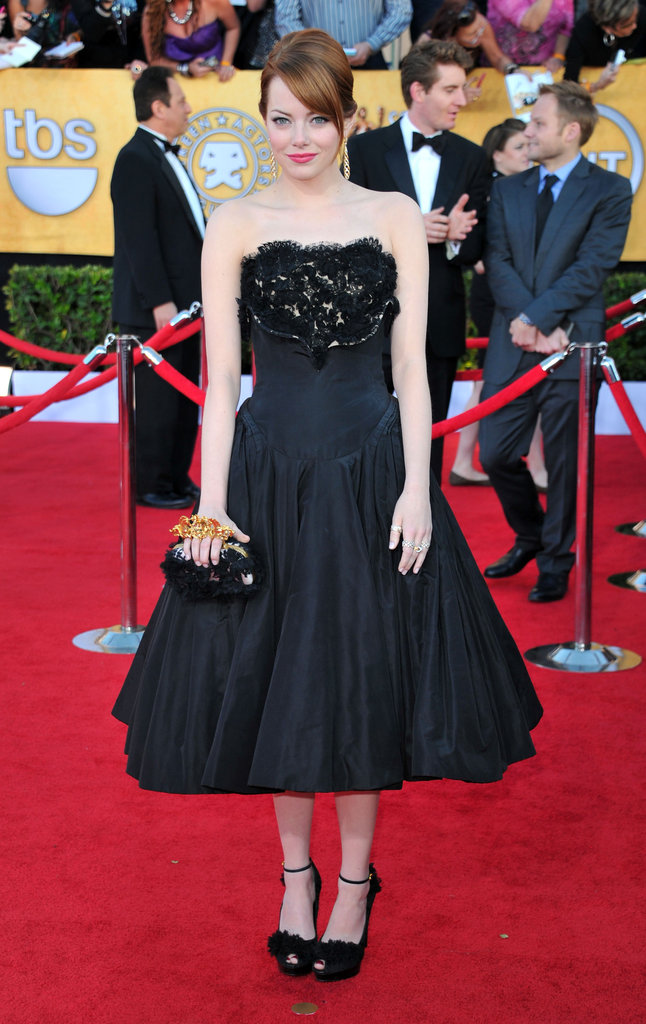 Emma Stone at the 2012 SAG Awards