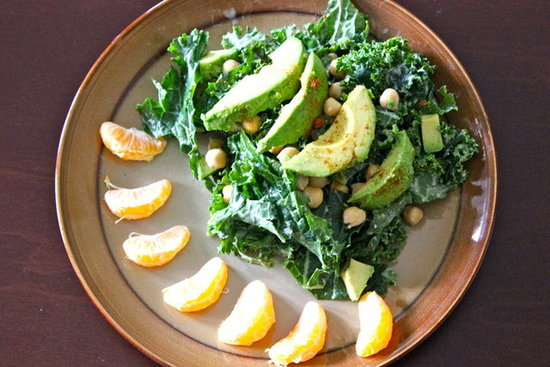 Kale Chickpea Green Power Salad