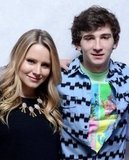 The Lifeguard costars Kristen Bell and Alex Shaffer hugged tight for their picture inside the portrait studio.