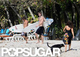Liam Hemsworth headed to the beach in Costa Rica.