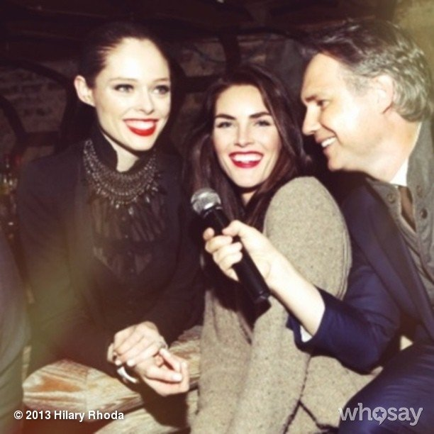 Hilary Rhoda partied with Coco Rocha in NYC. Source: Hilary Rhoda on WhoSay