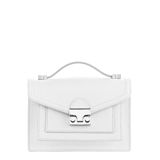 White is one of Spring's biggest trends; add it to your wardrobe repertoire now with this crisp Loeffler Randall Mini Rider bag ($395).