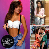 We wished a very happy birthday to the only girl who can rock a white bustier top with jeans and suspenders — Tiffani Theissen (aka Kelly Kapowski).