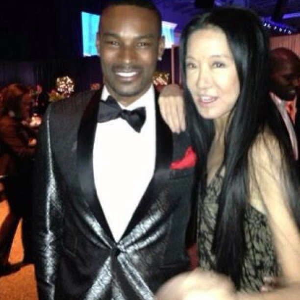 Tyson Beckford and Vera Wang posed together at the Inaugural Ball. Source: Twitter user TysonCBeckford