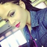 Christina Milian showed off her cat eye. Source: Instagram user christinamilian