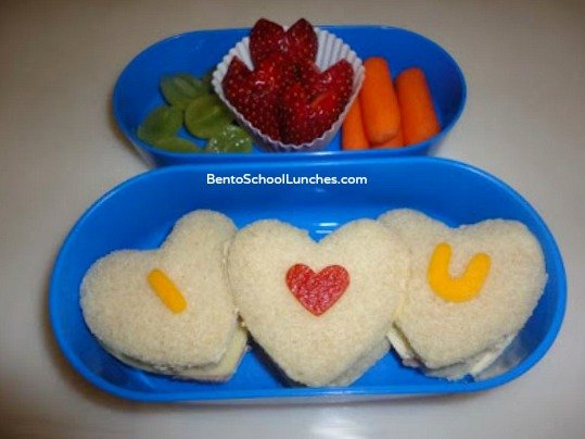 Message in a Sandwich: Valentine's Day Lunch Box