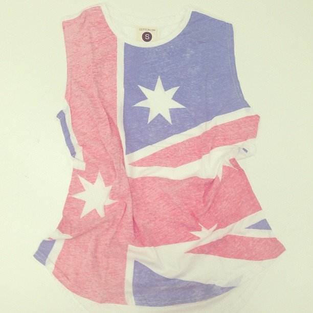 Cotton On does Australia Day! We love this faded patriotic tank.