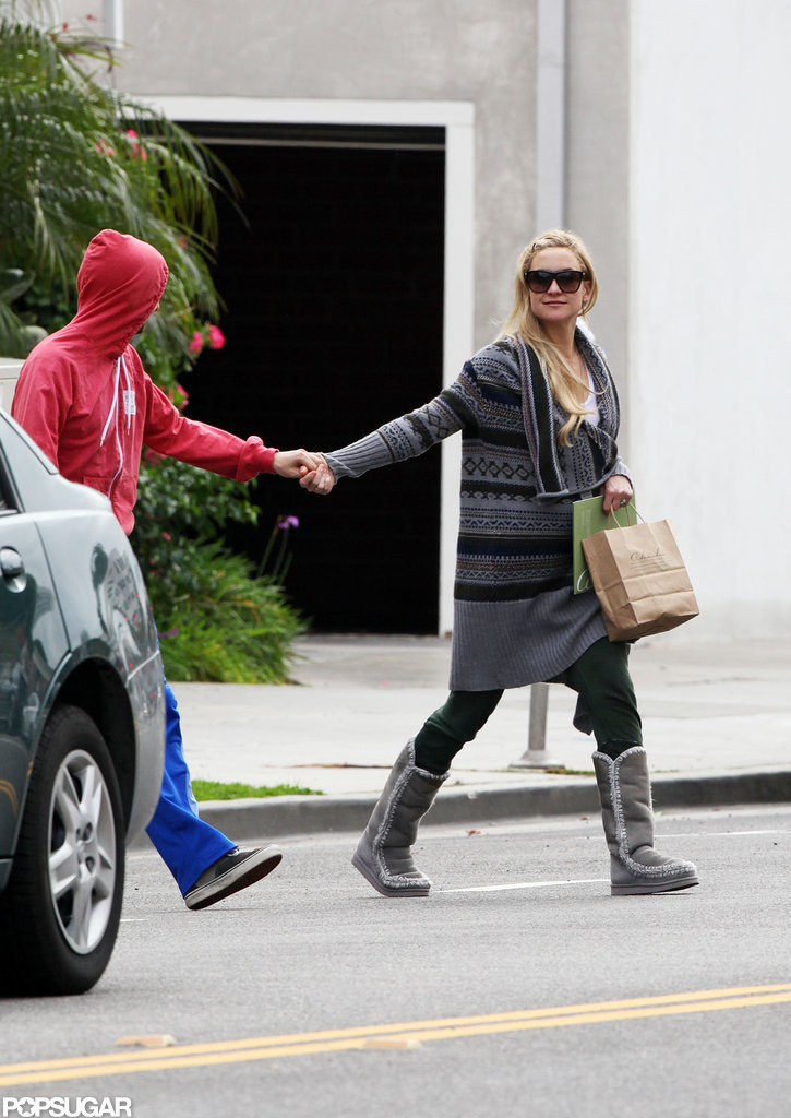 Kate Hudson and Matthew Belamy walked in Santa Monica.