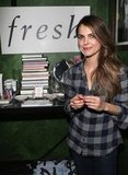 Keri Russell stopped by the Fresh counter during her Austenland press day at Rock and Reillys.