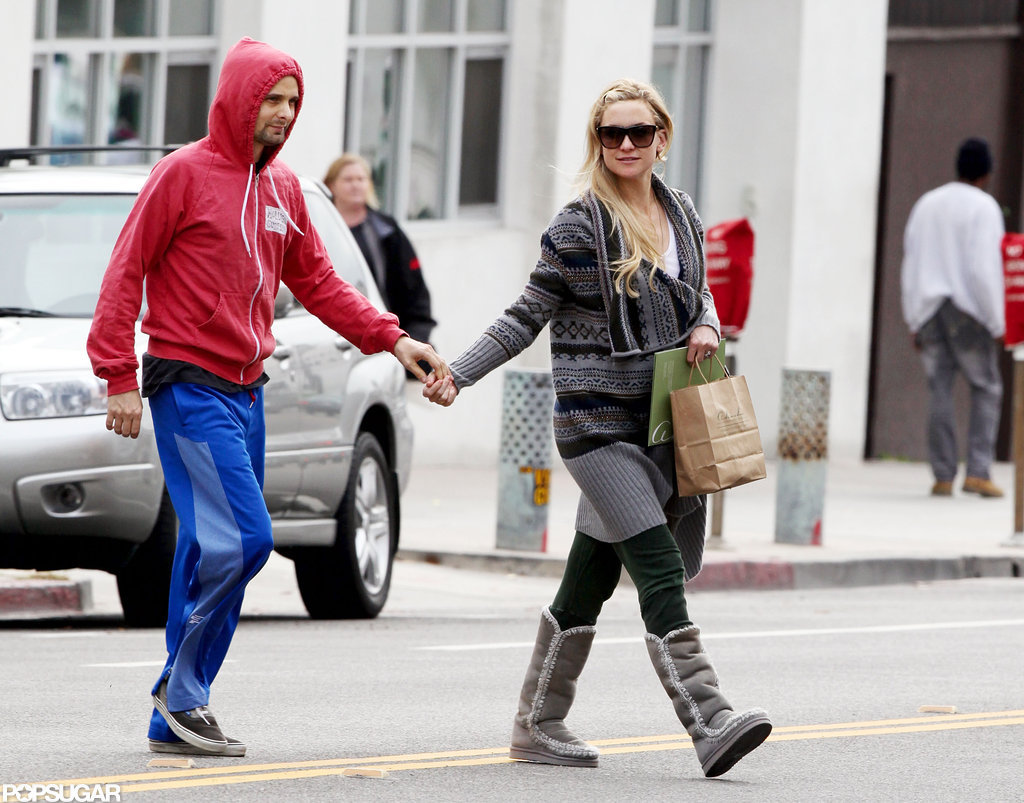 Kate Hudson and Matthew Belamy held hands in Santa Monica.