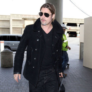 Brad Pitt Wearing Sunglasses at LAX | Pictures