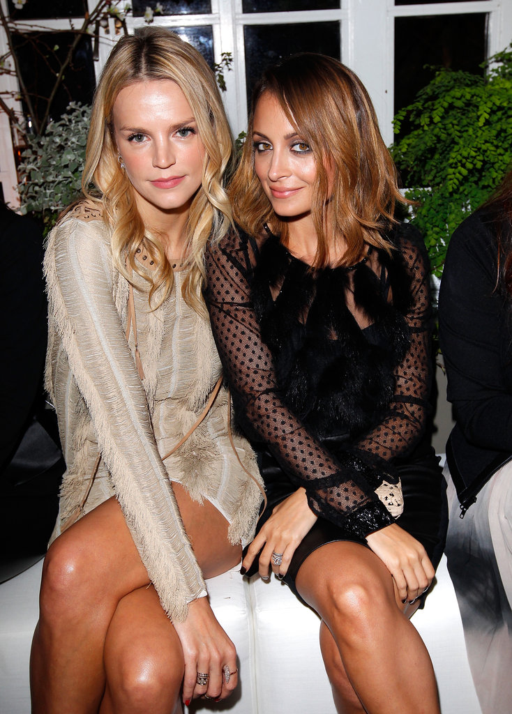 Nicole Richie hung out with friends at Ferragamo's Spring runway collection in LA.