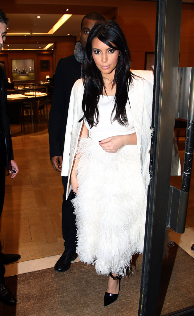 Kanye Takes Pregnant Kim on a Parisian Shopping Spree