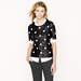 Don this J.Crew Polka-Dot Sequin Top ($48, originally $128) under a cozy cardigan for a textural, layered look, and when Spring hits, style it out with a pencil skirt and pumps.