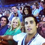 Firass Dirani attended the Australian Open with friends including Andy Lee, Airlie Walsh, Kris Smith and Pia Miller. Source: Instagram user firazzle