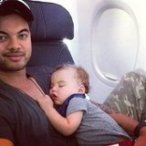 "Guy Sebastian called his son, Hudson, a ""seasoned traveller."" Source: Instagram user guysebastian"