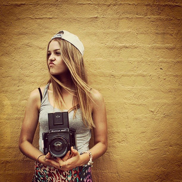 Isabelle Cornish had a turn as a photographer. Source: Instagram user isabellecornishh