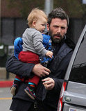 Ben Affleck carried his son, Samuel Affleck.