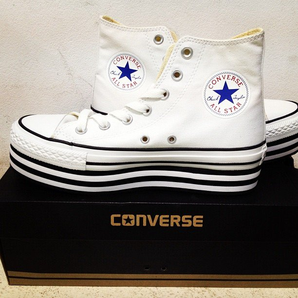 Platform Converse? Trust super stylist Pip Edwards to nab the coolest shoes in town before anyone else...! Source: Instagram user pip_edwards1