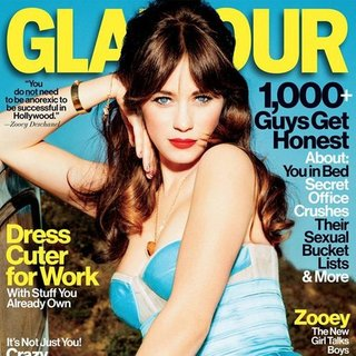 Zooey Deschanel on Glamour Cover 2013
