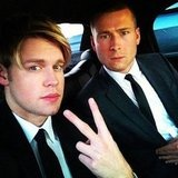 Chord Overstreet got real in his limo to the SAG Awards. Source: Instagram user chordover