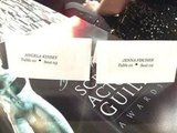 Angela Kinsey got to sit next to her costar, Jenna Fischer. Source: Twitter user AngelaKinsey