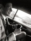 Lea Michele shared a picture of beau Cory Monteith on the way to the SAG Awards. Source: Twitter user msleamichele