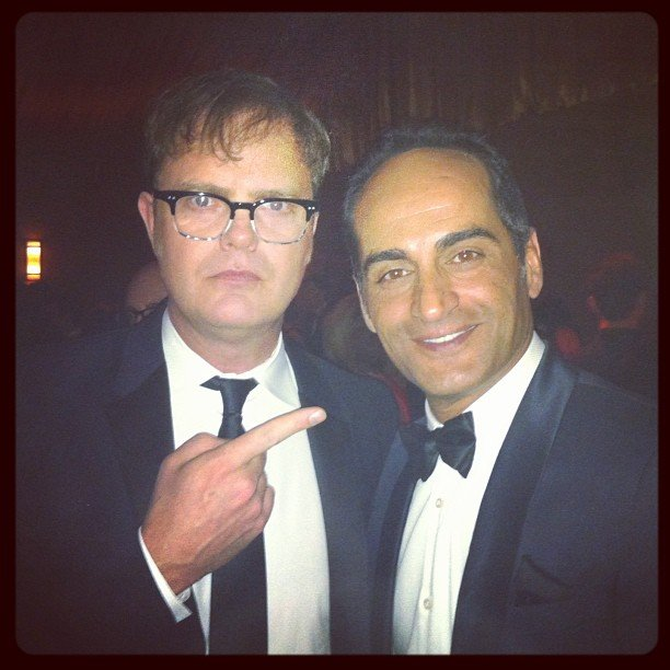 It was much easier for Rainn Wilson to find Abu Nazir (Navid Negahban) than it was for Carrie. Source: Instagram user rainnwilson