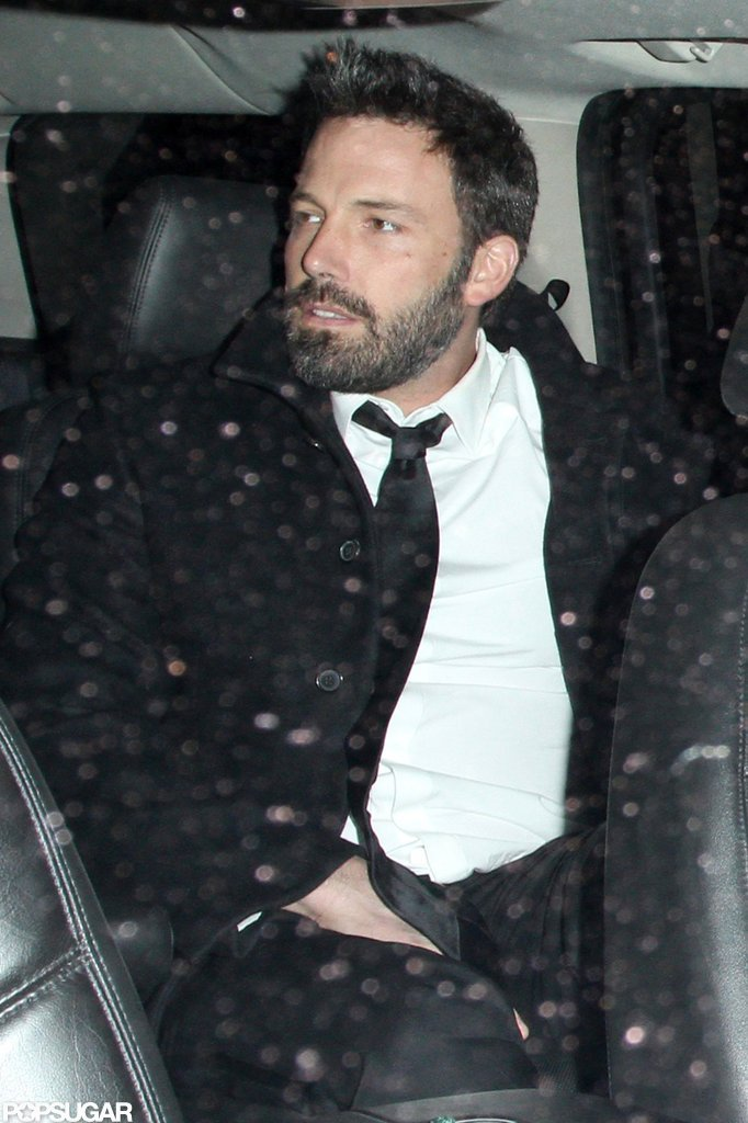 Ben Affleck still had on his suit from the SAG Awards.