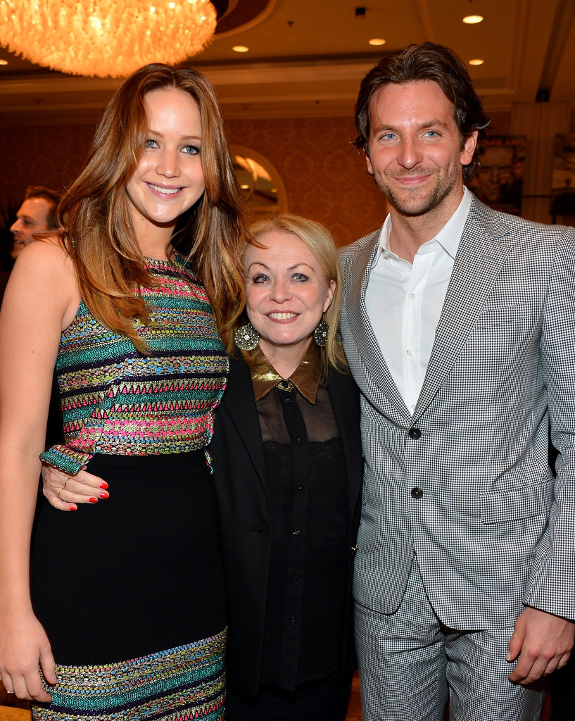 During January's AFI Awards, Bradley Cooper posed with his Silver Linings leading ladies Jennifer Lawrence and Jacki Weaver.